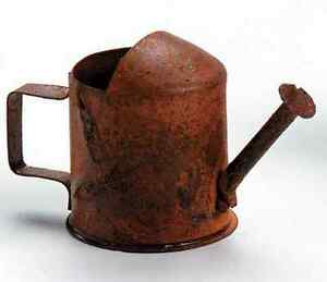 Miniature Dollhouse FAIRY GARDEN Accessories ~ Tin Watering Can - Rusted  ~ NEW