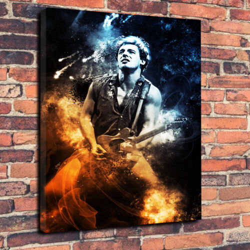 Bruce Springsteen Abstract Printed Canvas Picture Multiple Sizes 30mm Deep Music