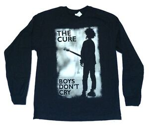 Cure-Boys-Don-039-t-Cry-Black-Long-Sleeve-Shirt-New-Official-Band-Merch