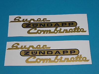 Z/ündapp Super Combinette Aufkleber Schriftzug Sticker Dekor Heck Gold