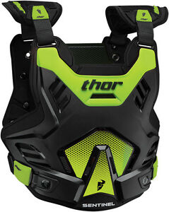 THOR-YOUTH-SENTINEL-GP-CHEST-PROTECTOR-BODY-ARMOUR-BLACK-GREEN-JUNIOR-MOTOCROSS