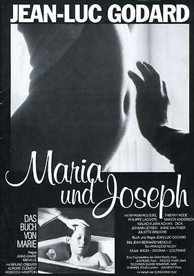 Bücher & Skripte KüHn Maria Und Joseph Original Presseheft Jean-luc Godard Grade Produkte Nach QualitäT Film-fanartikel