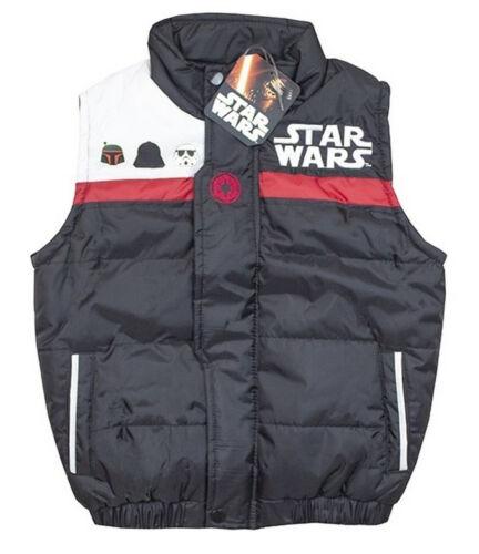 Licensed Captain America and Darth Vader Star Wars Boys Gilet Jacket Body Warmer