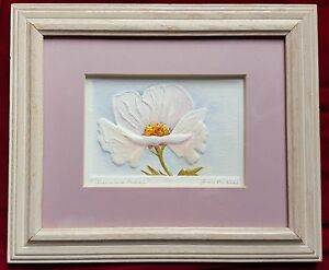 Beautiful cast paper flower sculpture signed limited edition ebay image is loading beautiful cast paper flower sculpture signed limited edition mightylinksfo