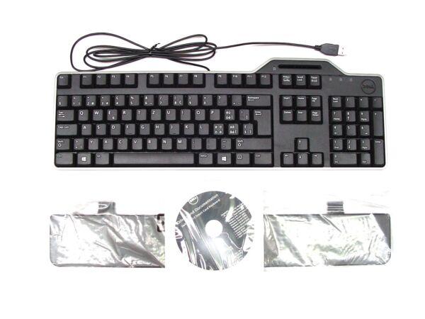 Beminnelijk Genuine Dell Usb Kb813 Keyboard Swiss Qwertz Layout With Smart Card Reader 7yf39 Limpid In Zicht