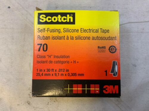 3M Scotch 70  1 in X .012 in Self-Fusing Silicone Electrical Tape X 30 ft