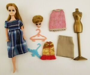 Vintage-Doll-Dawn-Lot-Head-to-Toe-dress-doll-Mannequin-Hangers-MOD-Topper-1970s