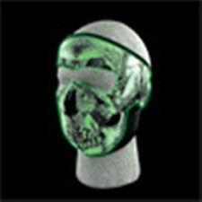 Glow in the Dark Skull Neoprene Full Face Mask Biker Snowmobile & Extender XL XX