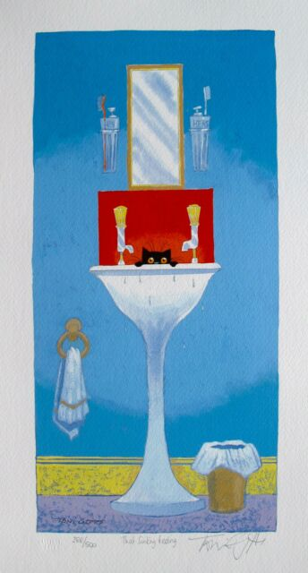 """TONI GOFFE """"THAT SINKING FEELING"""" Hand Signed Limited Edition Lithograph"""
