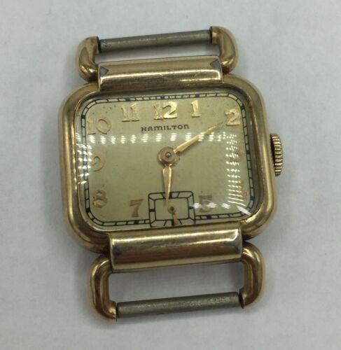 Homme Montre Hamilton Hand Wind Gold Filled CASE 1920 S