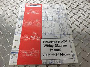 2003 Suzuki Motorcycle & ATV Wiring Diagram Manual 99923 ...