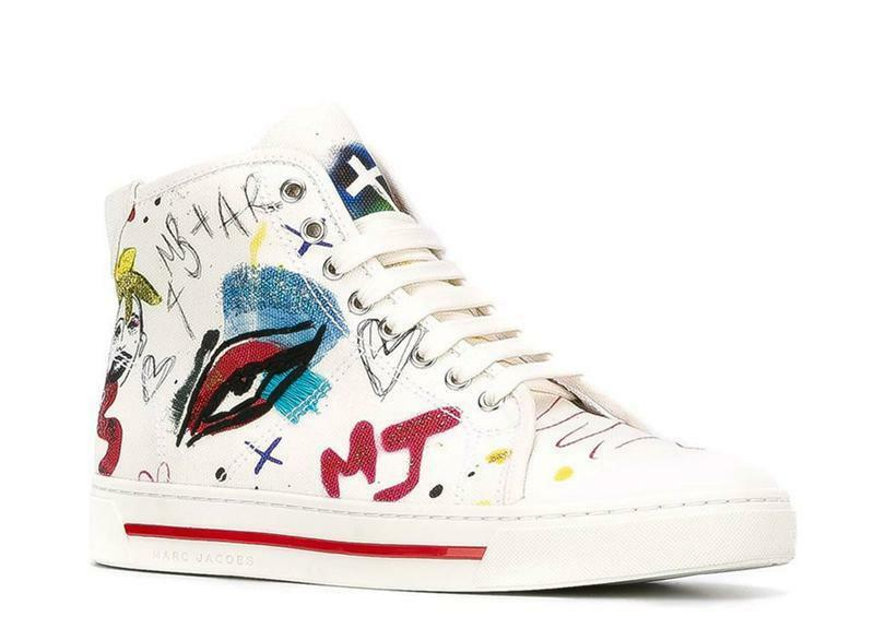 -65% MARC JACOBS SCARPE DONNA TAYLOR OFF M9000809 WHITE COLLAGE HI-TOP SNEAKERS M9000809 OFF 942f7f