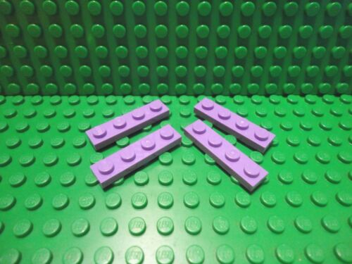 Lego 4 Medium Lavender 1x4 base plate NEW
