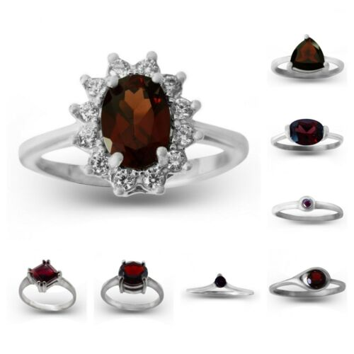 garnet ring Czech minerals Red gemstone ring Silver pypope
