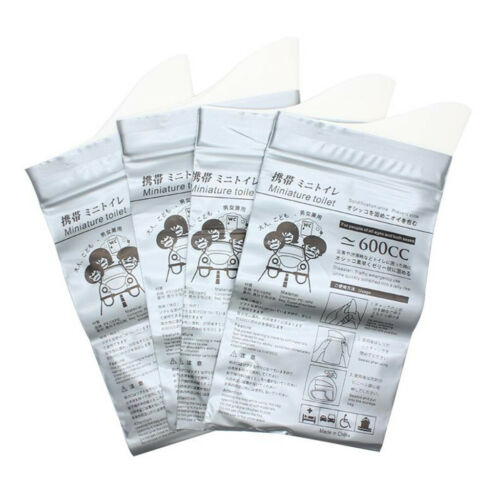 8x Disposable Urine Bags Car Emergency Camping Motion Sickness Wee Pee Bags