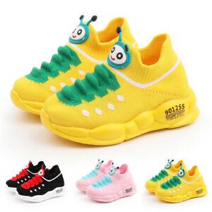 Children Boys Girls Trainers Sports Running Shoes Kids School Mesh Sneakers UK