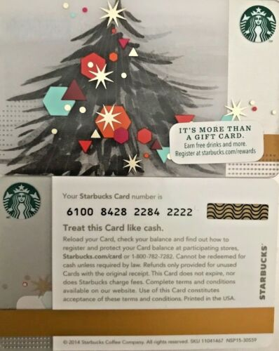 2014 STARBUCKS CHRISTMAS TREE GIFT CARD #6100 LIMITED EDITION NO VALUE