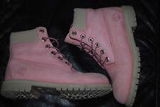 "Women's Timberland Waterproof Pink Nubuck 6"" Boots (5.5)"