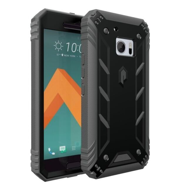 For HTC 10 Poetic [Dust Resistant] Dual Layer Shockproof Cover Case Black