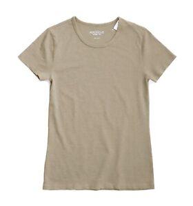 J-Crew-Mercantile-Women-039-s-XL-NWT-Khaki-Beige-Short-Sleeve-Cotton-Studio-Tee