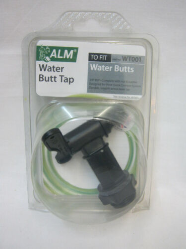 New ALM Spare Plastic Replacement Water Butt Tap Black WT001