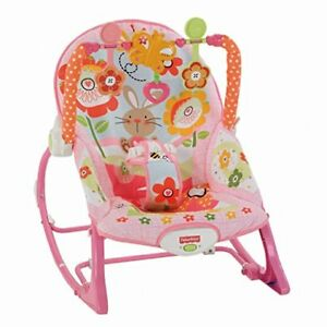 Details About Fisher Price Infant To Toddler Rocker Sleeper Pink Bunny Pattern Brand New
