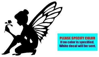 """Fairy Silhouette With Flower Vinyl Decal Sticker Car Truck Window Laptop Fun 9"""" Door Wetenschappelijk Proces"""