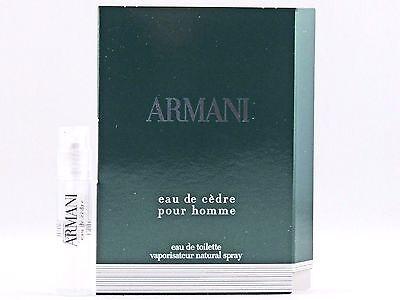 Giorgio Armani Eau De Cedre Pour Homme 1.5ml .05oz X 1 Cologne Spray Sample  Vial 397bc6331675