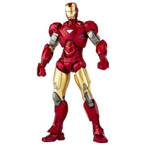 Nuevo tokusatsu Revoltech No.024 Iron Man 2 Iron Man Mark Vi (6) figura Kaiyodo