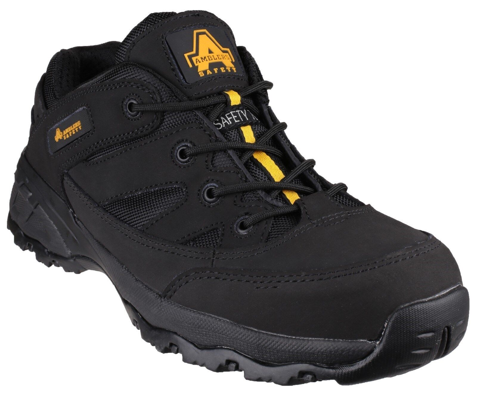 Amblers FS68C Fully Composite Unisex Negro Negro Negro Leather Lace Up Safety Trainers 26aafe