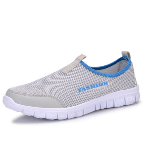 Men Breathable Mesh Sneakers Slip On Water Shoes Casual Walking Outdoor Flats