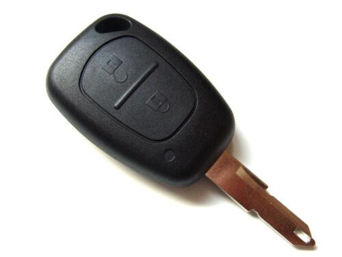 Renault Trafic Kangoo etc Remoto Llavero 2 Botones Llave En Blanco Cuchilla