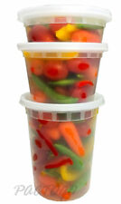 8 16 32 oz. Clear Deli Soup Freezer Microwaveable Food Container 24 Sets Each
