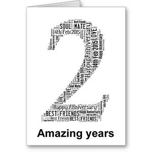 Personalised-Printed-Typographic-Second-2nd-Anniversary-Card-Gift-Male-Female