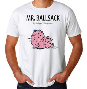 Mr Ballsack Funny Rude Offensive New Mens Bucks Bux Stag White ...