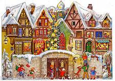 Alte Stadtmauer Panorama- Adventskalender zum Aufstellen Silberglimmer 555 Repri
