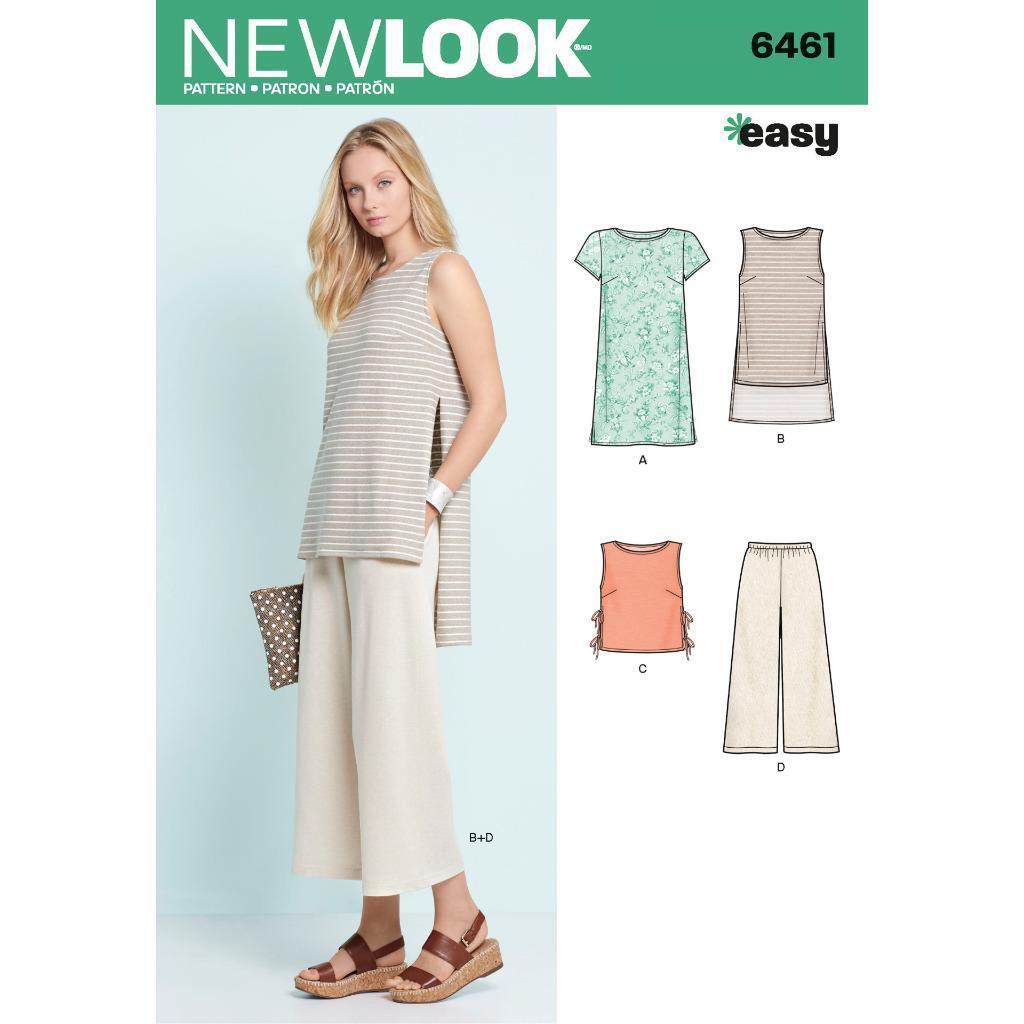 LOOK Sewing Pattern Miss Women Dress Tunic Top Cropped Pants 6461 Sz ...