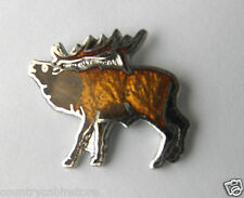 Elk Wapiti Antlers Hunting Wild Animal Lapel Hat Pin 3/4 inch