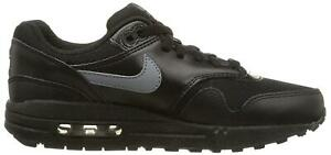 Details about Juniors NIKE AIR MAX 1 GS Black Trainers 555766 043