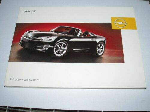 12//06 Manuale d/'uso situazione sysstem nuovo Opel Gt #rgt1206