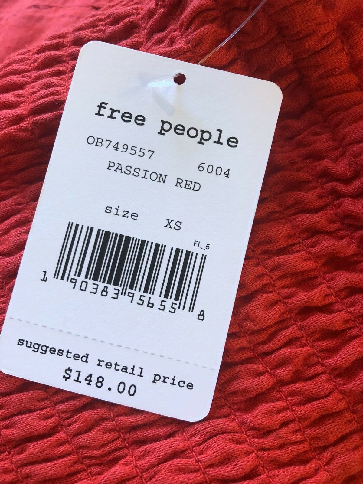 Free People Counting Daisies Off Shoulder Mini Dress Bell Bell Bell Sleeve Passion Red XS c1cb03