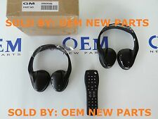 2 NEW OEM GM 2 Channel IR Fold Flat Headphones Headset with DVD Remote TV Rear