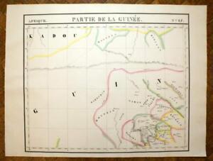 Partie De La Guinee Carte Géographique D'afrique N°27 Vandermaelen 1827 Map