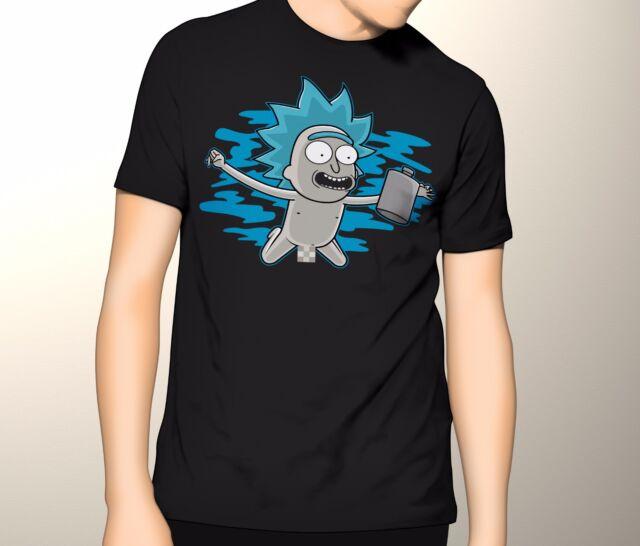 Rick and Morty Shirt, Nirvana Rick, S-5XL Graphic T-Shirt