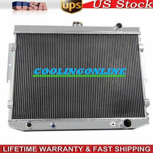 3 Row Core Aluminum Radiator For 1973-1974 dodge mopar 7.2 440 V8 Engine 73 74