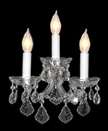 "MARIA THERESA WALL SCONCE CRYSTAL LIGHTING H11.5"" x W14"""