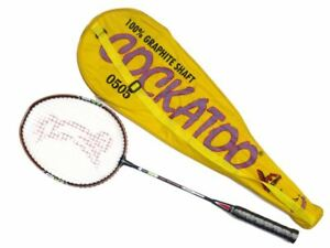 Cockatoo 0505 Badminton Racket (Yellow) Racquet Cary Case Club School