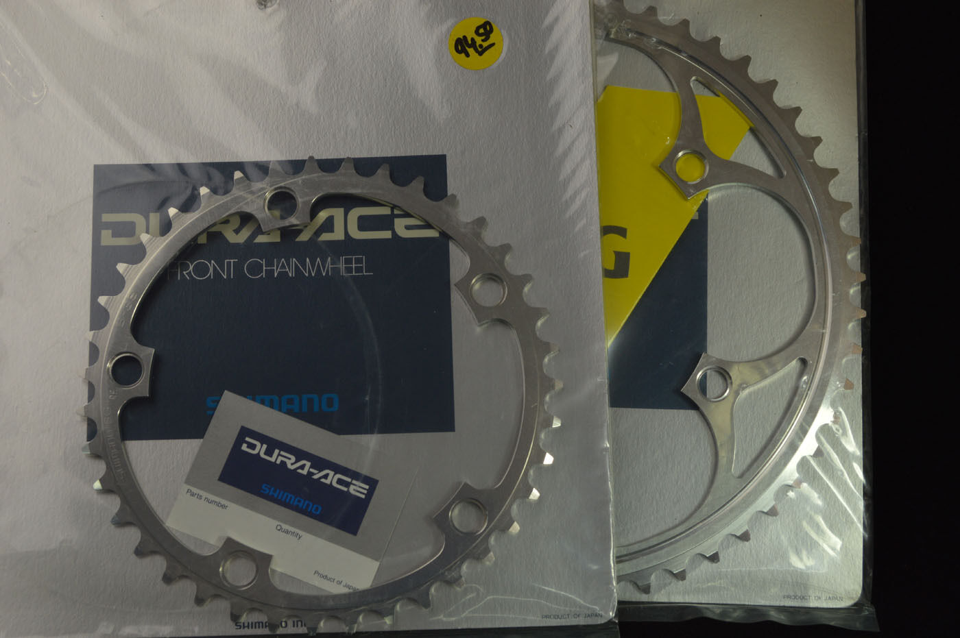 New set chainring Shimano dura ace 7400 SG A-53 B-39 bcd- 130 53 39t