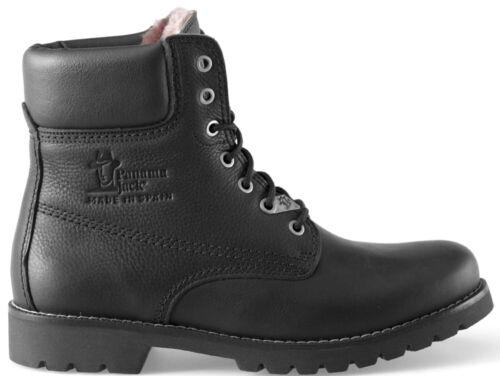 Panama Jack Herrenschuhe Panama 03 Igloo C13 Stiefel Boots Schwarz Leder Neu