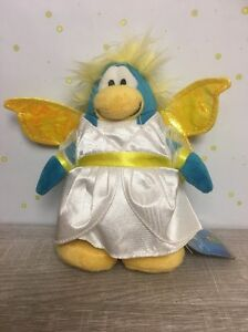 Disney-Club-Penguin-SNOW-FAIRY-Plush-Doll-Holiday-Series-with-Gold-Coin-NWT